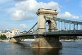 Budapest Chain Bridge over Danube poster