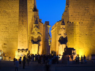Colossus at entrance of Luxor temple, Thebes. Egypt series