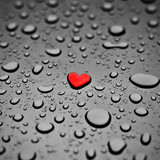 Fotoroleta Heart as a rain drop