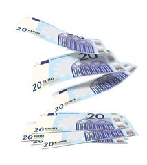 20 euros cayendo
