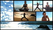 Yoga on the beach montage