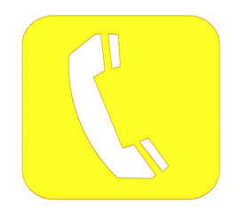 Telephone Button Yellow