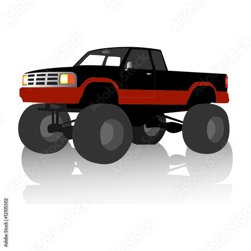 Canvas Cartoon cars monster truck
