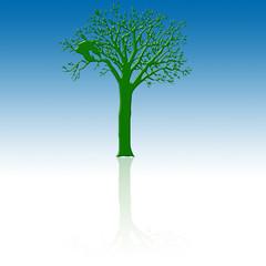 Arbol verde para web 2.0