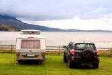 Fototapety Einsame camper