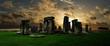 Leinwanddruck Bild - Stonehenge at sunset