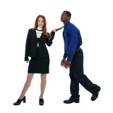 Interracial Business Couple poster