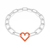 chain frame with heart