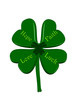 Lucky 4 Leaf Clover-  represents Hope, Faith, Love & Luck