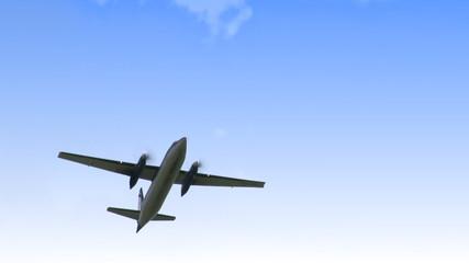 Stock viedo footage of a big aeroplane flying