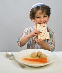 boy matzo ball soup