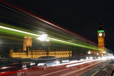 Fototapety westminster palace and heavy traffic