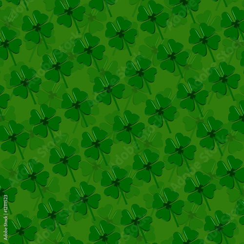 Four-leaf clover Background - Saint Patricks Day