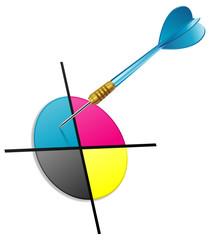 CMYK darts