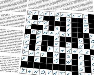Business, Crossword Puzzle