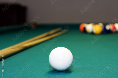 Staande foto billiard