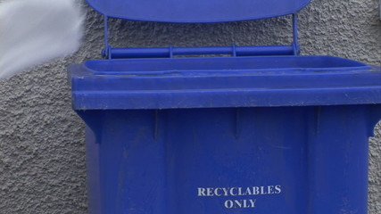 Stock Video Footage of someone Recycling