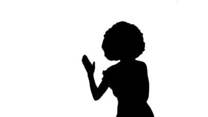 Afro chick against white background martial arts - HD