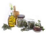 Fototapety Healing herbs and edible flowers 2