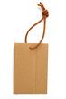 affichette carton avec cordonnet cuir