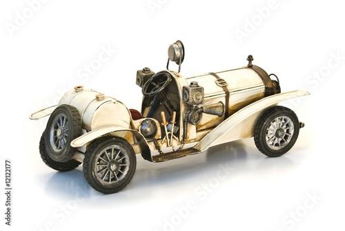 Naklejka back of white oldtimer model