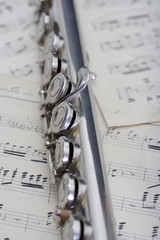 Flauto e vecchia partitura