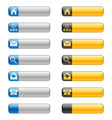 Banner buttons with web icons