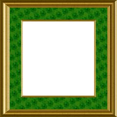 Luck Of The Irish, Shamrocks Frame - Saint Patricks Day