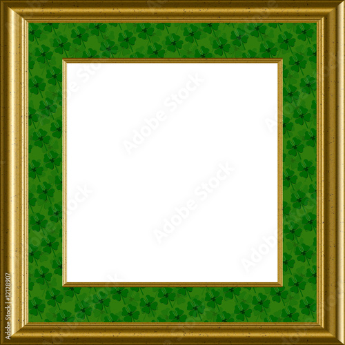 Luck Of The Irish, Shamrocks Frame - Saint Patricks Day