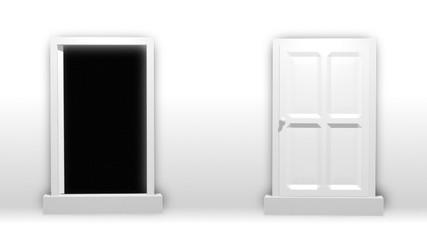 Animation of two doors opening