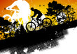 roleta: Mountain bike abstract background