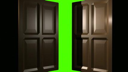 Doorway to green screen