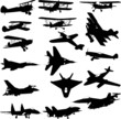 military airplanes - vector