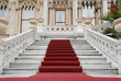 Leinwanddruck Bild - red carpet and marble staircase