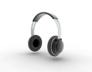Audio earphone. Digitally generated image.