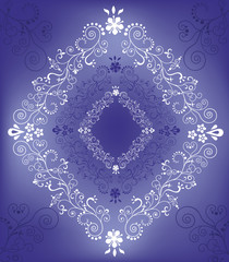 Violet background with rhombus.
