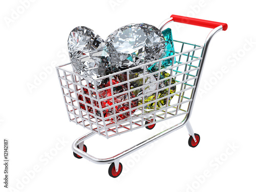 Trolley full of diamonds