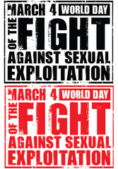 march 4 . world day of the fight against sexual exploitation