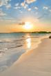 Leinwanddruck Bild - Tranquil Beach Sunset