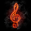 Fire treble clef