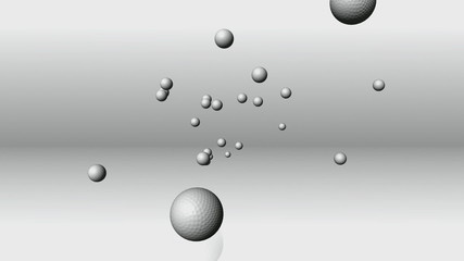 Falling golfballs