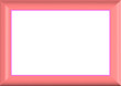 Pink Photoframe / Text Border - With Isolated Clipping path