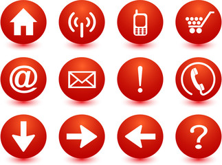 Red Icon Set