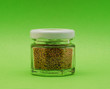 small jar with pepper