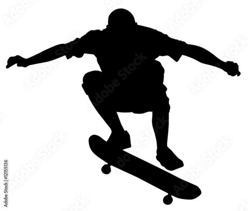 Skatboarder im Sprung
