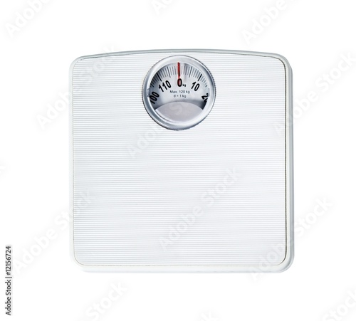 Leinwandbild Motiv Bathroom scale