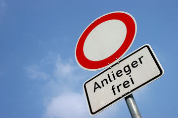 Anlieger frei