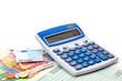 Steuererklärung, Tischrechner, Geld