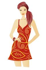 beautiful woman illustration
