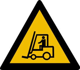 Warning sign - forklift truck